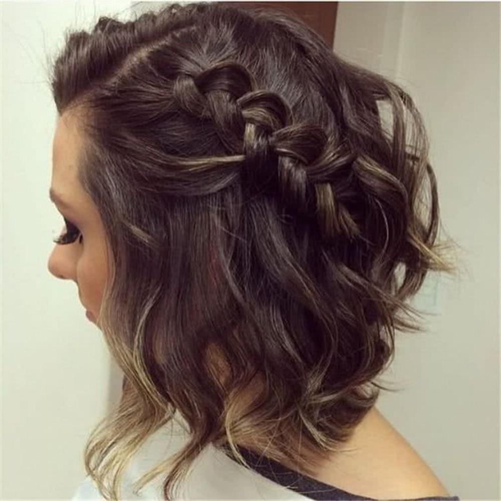 peinado con ondas y trenza