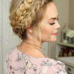 peinado semi recogido elegante